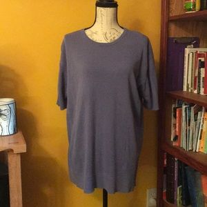 Beautiful periwinkle color short-sleeve sweater